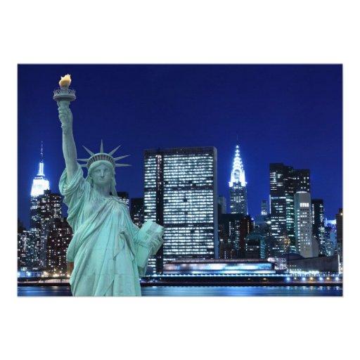 New York City skyline at Night Lights, Midtown Man Card