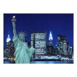 New York City skyline at Night Lights, Midtown Man Custom Announcements