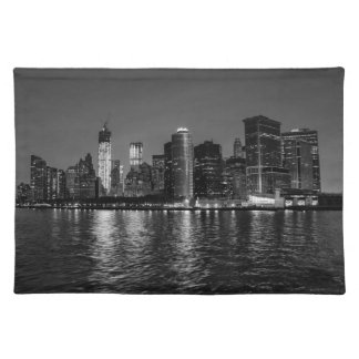 New York City Skyline at Night Placemat