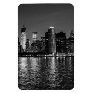 New York City Skyline at Night Vinyl Magnet
