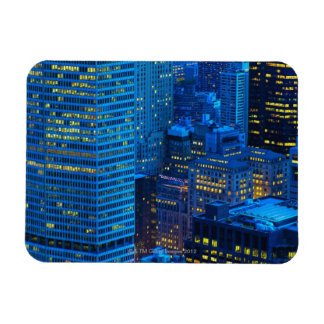 New York City Skyline at Sunset Vinyl Magnets