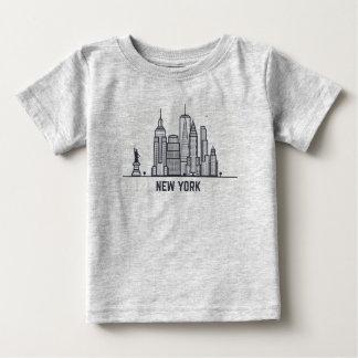 New York City Skyline Baby T-Shirt