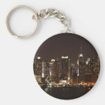 New York City Skyline Basic Round Button Key Ring