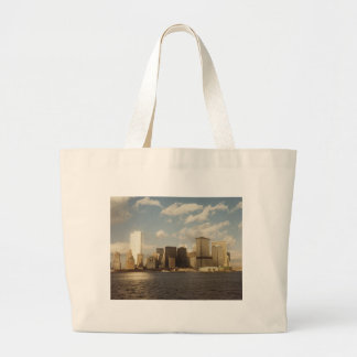 New York City Skyline before 9/11 Twin Towers Jumbo Tote Bag