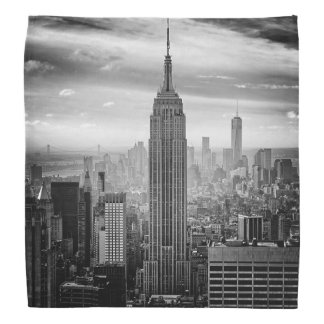 New York City skyline black and white Bandannas