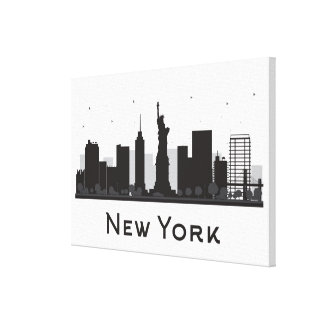 New York City | Skyline Black and White Canvas Print