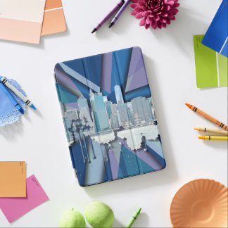 New York City Skyline | Blue 3D iPad Air Cover
