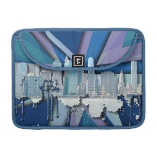 New York City Skyline | Blue 3D Sleeve For MacBook Pro