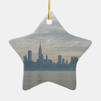 New york city skyline ceramic star decoration