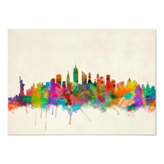 New York City Skyline Cityscape Card