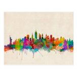 New York City Skyline Cityscape Post Card