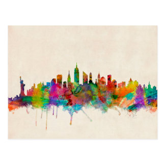 New York City Skyline Cityscape Postcard