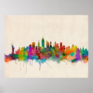 New York City Skyline Cityscape Poster