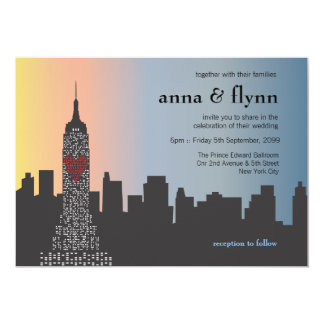 New York City Skyline Cityscape Wedding Invitation