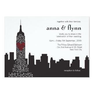 New York City Skyline Cityscape Wedding Invitation