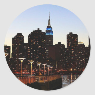 New York City Skyline Classic Round Sticker