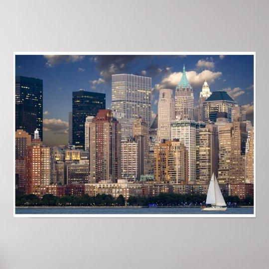 New York City Skyline from Hudson River Poster