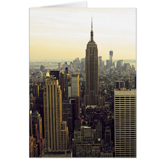 New York City Skyline from Midtown to Downtown Greeting Card