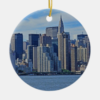 New York City Skyline From the East River A1 Christmas Ornament