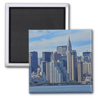 New York City Skyline From the East River A1 Square Magnet