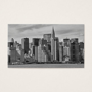 New York City Skyline From the East River B&W