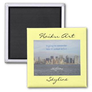 New York City Skyline Haiku Art Magnet