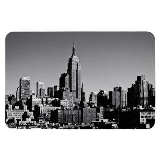New York City Skyline in Black and White Rectangular Photo Magnet