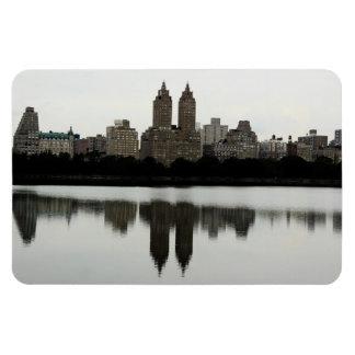 New York City Skyline in Central Park Rectangular Photo Magnet