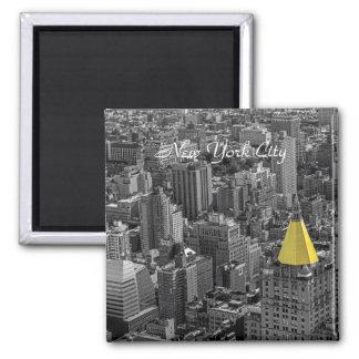 New York City Skyline Landscape Square Magnet