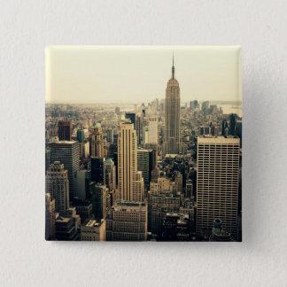New York City Skyline Midtown 15 Cm Square Badge