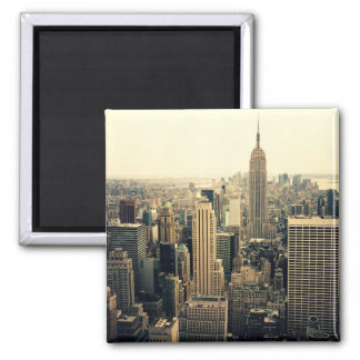 New York City Skyline Midtown Square Magnet