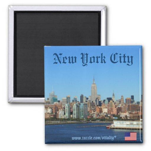 New York City skyline photography magnet