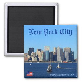 New York City skyline photography magnet design