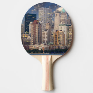 New York city skyline Ping Pong Paddle