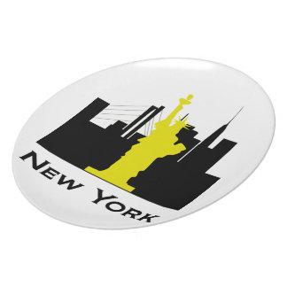 New York City Skyline Dinner Plate