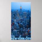 New York City Skyline Poster (Empire State)