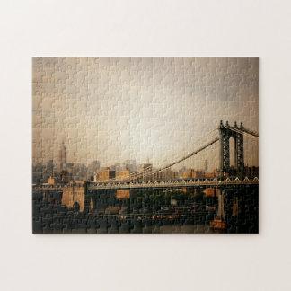 New York City Skyline Puzzle - Manhattan Bridge