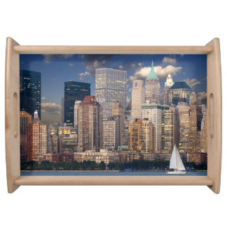 New York city skyline Serving Tray