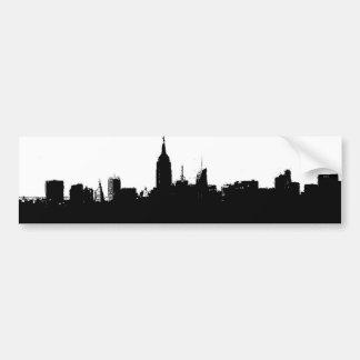 New York City Skyline Silhouette Bumper Sticker