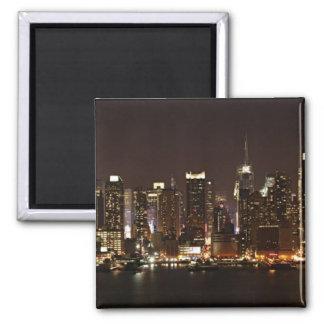 New York City Skyline Square Magnet