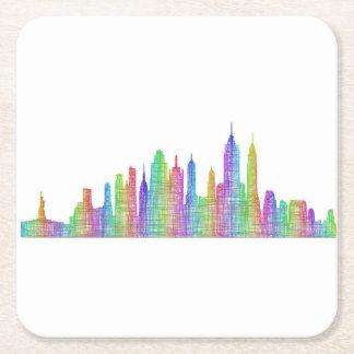 New York City skyline Square Paper Coaster
