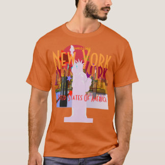 New York City Skyline Statue of Liberty T-Shirt