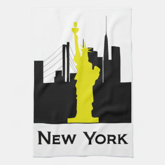 New York City Skyline Towels