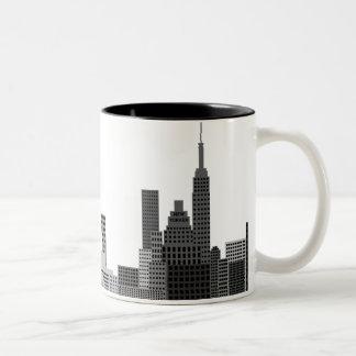 New York City Skyline Two-Tone Coffee Mug