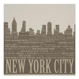 New York City Skyline Typography