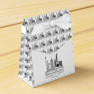 New York City Skyline Wedding Favour Box
