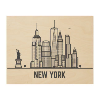 New York City Skyline Wood Prints