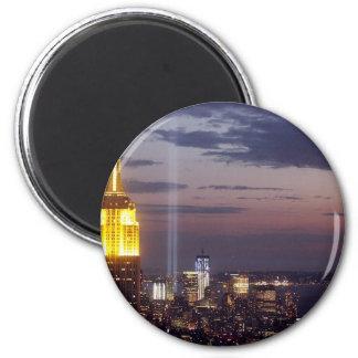 NEW YORK CITY SKYLINE WORLD TRADE CENTER MAGNETS