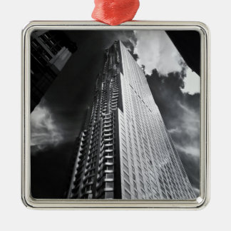 New York City Skyscraper in Black and White Christmas Ornament