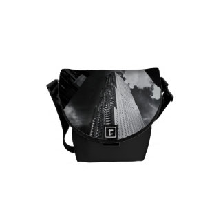 New York City Skyscraper in Black and White Courier Bags